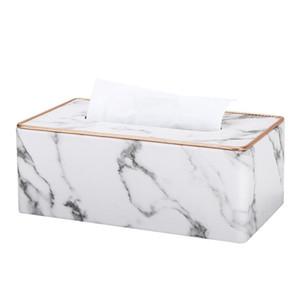 Mermer Altın Jant Mendil Masaüstü Tuvalet Peçetelik Ofisi Danışma Doku Durum Metal Kenar Buz Crack Kutuları Masa Süsleme Korumalı