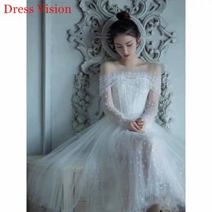 2021 New Dressed Dress Sexy Boat Neck Long Sleeves Robe Soiree Bride to Be*1087 G4FU