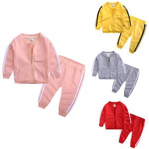 Baby Designers Vêtements Enfants Tracksuits Casual Enfants Sports Coat Pantalons 2pcs Ensembles à manches longues Boys Boutiques Boutique Boutique Vêtements D3617