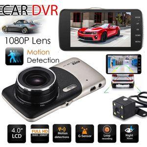 새로운 듀얼 렌즈 카메라 HD 자동차 DVR 대시 캠 비디오 레코더 G 센서 야간 투시경 3 년 보증 24 시간 Dispatch 30 일의 돈으로 새로 도착