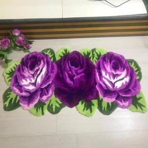 Tapete do tapete do flocking do tapete Rosa do tapete para a sala de estar para o sofá esteira 126 * 65cm