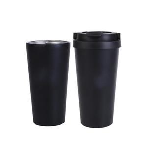 4 가지 색상 신제품 진공 컵 500ml 누설 방지 이중 벽 304 스테인레스 스틸 머그잔 진공 플라스크 열차 차 / 커피 머그잔 여행 185 G2