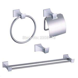 Smesiteli Bath Hardware laiton Ensembles Matériel Chrome poli Accessoires de bain Porte-papier Robe Hanger Anneau porte-serviette Bar rack Kit sqceeR