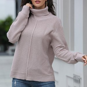 Fashion Solid Knitted Sweater Casual Autumn Winter Warm Turtleneck Pullover Tops Ladies Female Women Long Sleeve Blusas Jumper