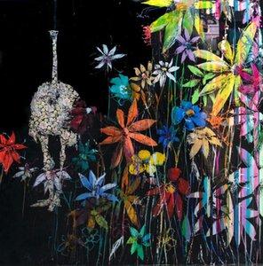 Angelo Accardi FIORI SUL NERO Home Decoration Artigianato / HD Stampa della pittura a olio su tela di canapa di arte della parete della tela di canapa Immagini 201003