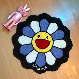 Home Möbel Trendy Murakami Takashi Sonnenblume Teppich Originalität Badezimmer Türmatte Regenbogen Blume Teppich Couchtisch Bodenmatte
