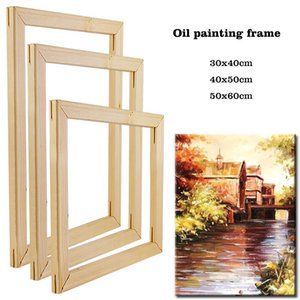 40x50cm Wooden frame for canvas oil Painting by numbers diy frame for photo inner wall home decoration