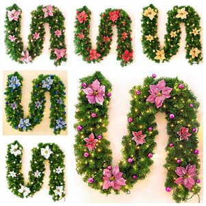 2,7 M Рождество LED Rattan Garland Декоративные зеленый Рождество Garland Искусственный Xmas Tree Rattan Баннер Красочные украшения Реквизит AHF2951