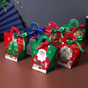 Regalos de Nochebuena grande de la caja de regalo de Santa Claus Diseño Kraft Papercard que favor de partido Presente Actividad Red Box verdes cajas de embalaje