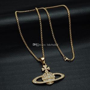 Женщины Мужчины горный хрусталь Спутниковое ожерелье хип-хоп стиль Orb цепи ожерелье для ювелирных изделий подарков партии высокого качества