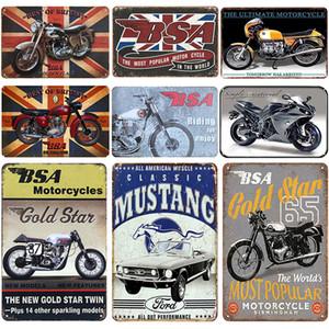 2021 Mustang Motor Plaque Metall Vintage Blechschild Pin Up Shabby Chic Decor Metall Zeichen Vintage Bar Dekoration Metall Poster Pub Teller