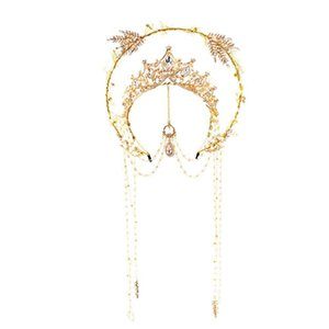Halo Crown Gold Fabband Virgin Mary Tiaras Headpiece Lolita LJ201026