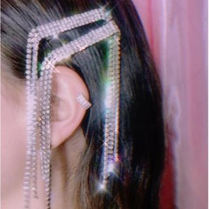 Luxury Wedding Rhinestone Long Tassel Hairpins Barrettes for Women Crystal Hair Clip Korean Headwear Hair Accessories Jewelry