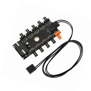 Вентиляторы Охлаждения Шасси Вентилятор HUB CPU Охлаждение 10 Порт 12 В 4 PIN-код PWM IDE VH99