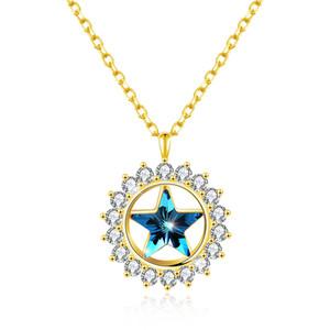 regalo SWAROVSKI ELEMENT JEWELRYRhinestone intarsio collana di cristallo intarsiato della stella di vendita calda con scatola regalo