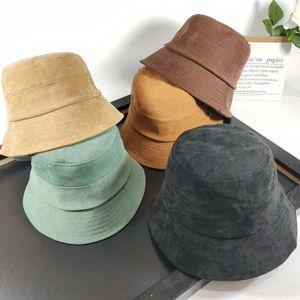 Kangaroo Bucket Hat Mens Kange Embroidery Winter Hat Fall Velvet Warm Fisherman Basin Bucket Cap Corduroy To One Woman Luxurys Designers