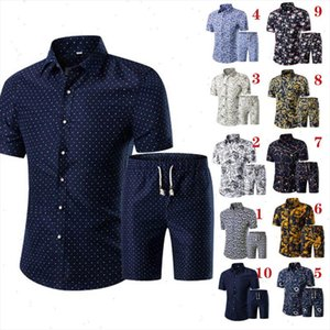 Summer Men Printed T shirt Shorts Decorative Pattern Two Piece Sets Plus Size H9 Drop Shipping Good Quality