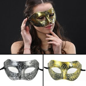 Halloween Costume Party Mask Retro Greco-Roman Gladiator Masquerade Masks Vintage Carving Men Masks Halloween Party Masks