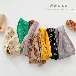 Осенний южнокорейский детский шерстяной шарф с небольшим цветочным цветом