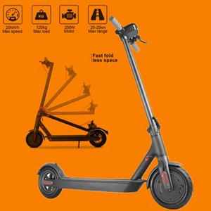 Germany Warehouse No Tax Folding Electric Scooter For 8.5inch Wide Wheel Bicycle Scooter 7.8Ah 250W With App Commute Economic