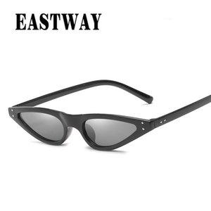Eastway 2020 Quadro de Moda de Nova Cat Eye Platics Sunglasses Mulheres Marca Vintage pequeno Sun Óculos Feminino bbyuIv alice_bag