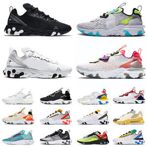 sapatos nike react vision react element 87 55 air chain reaction Schematic Orewood Tênis masculino feminino tênis Summit branco preto Be True tênis esportivos ao ar livre