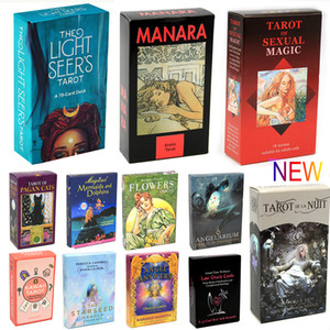 Light Seer Tarot 78 Carte Carte Deck Conseil Divination Lecture Moon Love Tarot Près Beginners érotique