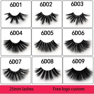25mm Eyelashes Mink Eyelashes Thick Natural Long False Eyelashes 5D Mink Lashes High Volume Soft Dramatic Eye Lashes Makeup
