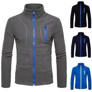 Zogaa 2020 Men Sports Casual Wear Zipper New Fashion Tide Jacquard Hoodies Fleece Jacket Fall Sweatshirts Autumn Spring Jacket
