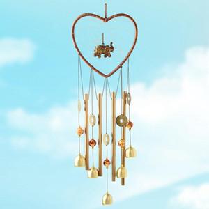 1 stück Herz Elefant Dream Catcher Metall Wind Pime Tube Glocke Anhänger Home Yard Garten Dekoration Hängende Ornamente Handwerk
