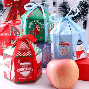 Presente de Natal Embalagem Christmas Eve a Apple Gift Box Xmas Embalagens caixas de bombons Box Decorações de Natal XD24046
