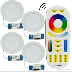 12W MILLIGHT LED Panneau Dimmable Downlight Downlight AC85-265V RGB + CCT Chambre intérieure Éclairage de cuisine + 2.4G RF Télécommande sans fil