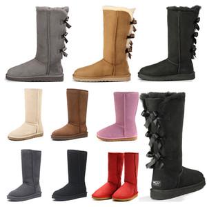 boots 2020 stivali firmati Hotsale bambini Stivali da neve invernali classici ragazza Bowtie moda Caviglia Plus cotone Mantieni la taglia calda 26-35