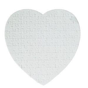Sublimation Blanks Heart Puzzles DIY Puzzle Heart love Shape Puzzle Hot Transfer Printing Blank Consumables Child Toys Gifts FY7451