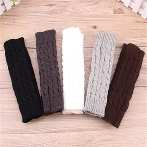 Hot Sale Women Wool Mitten Warm Fingerless Gloves Hand Warmer Winter Women Arm Crochet Knitting Faux Long Twist Gloves