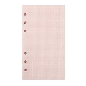 A6 ستة فتحات فضفاضة ورقة دفتر الداخلية الأساسية 5-color متعددة الخيارات استبدال دليل الصفحات مع الصفحات الداخلية الملونة A07 136 K2