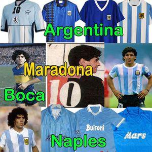 4XL 1986 Maradona Newells الرجعية لكرة القدم الفانيلة نابولي ماجلي كاميسيتا نابلتي مايلوت نابولي مارادونا رجال + أطفال أطقم كرة القدم قميص