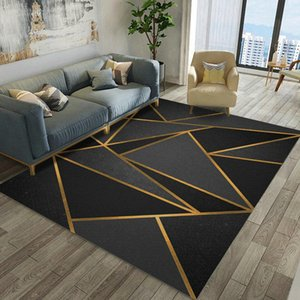 Nordic style simple carpet bedroom home printing carpet creative geometric floor mat rugs and carpets for home living room