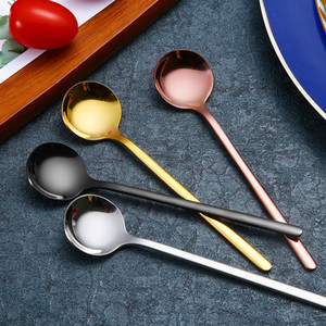 Hot Sales Mini Coffee Spoon Stainless Steel Tea Spoon Gold Stirring Teaspoon Bar Restaurant Kitchen supplies Christmas Birthday Party 374 N2
