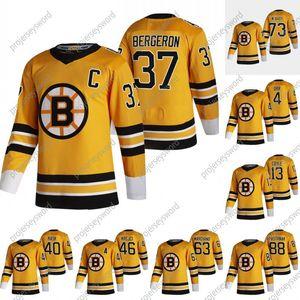 2021 Retro Retro Patrice Bergeron Jersey mit C Patch Boston Bruins David Pastrnak Tukka Rask David Krejci Brad Marchand Charlie McAvoy