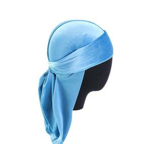 14 Style Unisex Velvet Durags Bandana Turban Hat Pirate Caps Wigs Doo Durag Biker Headwear Headband Pirate Hat Hair bbynYf bde_home