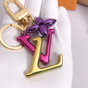 Desiger Key Rings Jewelry Fashion Accessories Keychain Desiger Keyring Top Quality Letter flower pendant Car Keybag Accessories