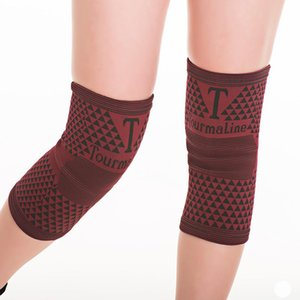1 Pair Tourmaline Sports Knee Pads Magnetic Health Care Knee Brace Protector for Arthritis Pain Sports Recovery Running Fitness