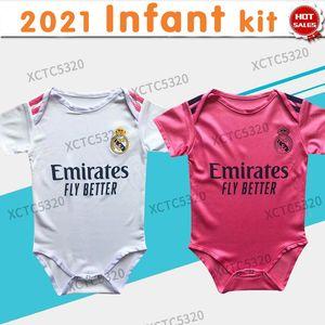 2021 Real Madrid Baby Kit bébé football Jersey Benzema Hazard Baby Baby Home Chemises de football Soccer Uniforme de football personnalisé
