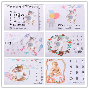 Infant Photography Props Blanket Newborn Baby Monthly Growth Milestone Background Blanket Photo Porps Phtography Accessories LJ201105
