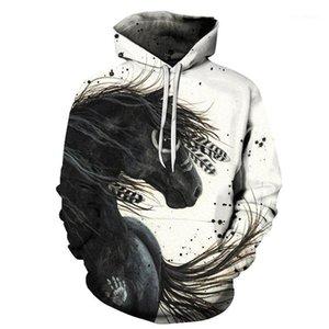 Hot Sale Colorful Horse Print Sweatshirt Men's Women's 3D Pullover Men's Hoodie Autumn Long Sleeve1