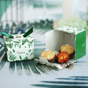 Kreative grüne Monstera Blätter Candy Box Hochzeit Favoriten Candy Boxes Giveaways Chocolate Box Party Supplies danke geschenk1