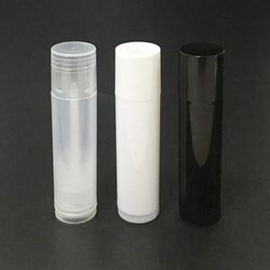 5g cosmetico tubo vuoto Chapstick Lip Gloss Rossetto balsamo e Caps contenitore bianco nero DWF1228 colore chiaro