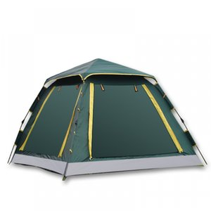 """Instant -up Camping Tent 4-6 Person Outdoor Automatic Tents Double Layers Large Family Tent Waterproof Camping Hiking"