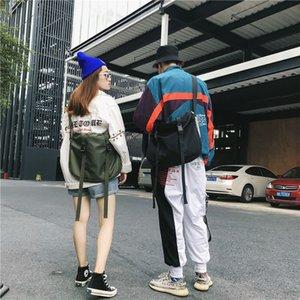 Çanta için Stil Çanta C1026 Göğüs Su Geçirmez Kadınlar Kalça Streetwear Crossbody Öğrenci İşlevsel Hop Harajuku Naylon Moda Omuz Gnmre